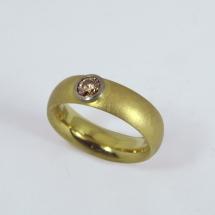 750Gelb- undWeißgold,-Brillant cognakfarben