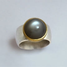 900Gelbgold, Silber, Mondstein