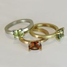 Gelbgold, Roségold, Silber, Turmaline